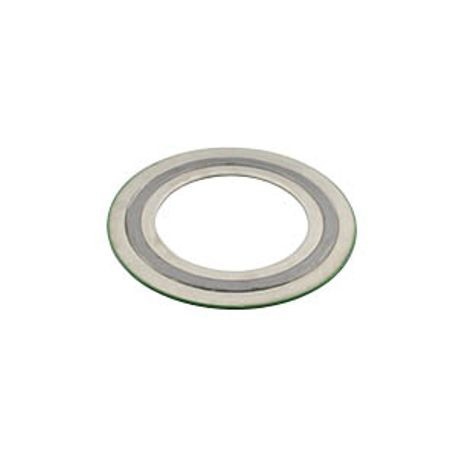 1 1/2 150# SPIRAL WOUND GASKET 316 STAINLESS STEEL INNER RING, 316 STAINLESS STEEL WINDNG, FLEXIBLE GRAPHITE FILLER, 316 STAINLESS STEEL OUTER RING