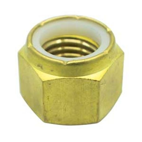 #10-24 BRASS NYLON INSERT LOCK NUT