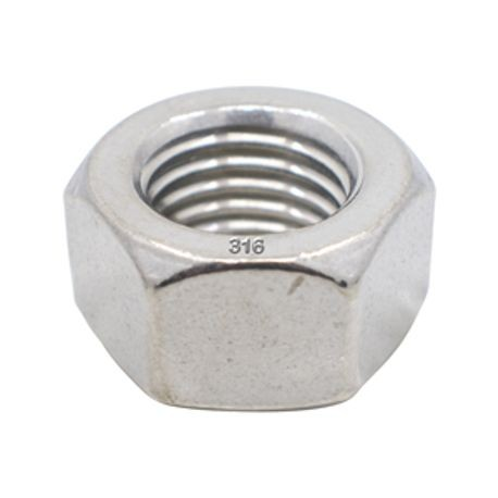1 1/2-6 316 STAINLESS STEEL HEX NUT