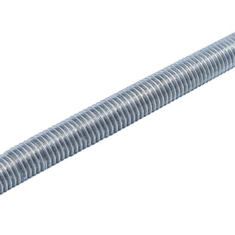 1 1/2-6 X 3 FT A307 ALL THREAD ROD, PLATED