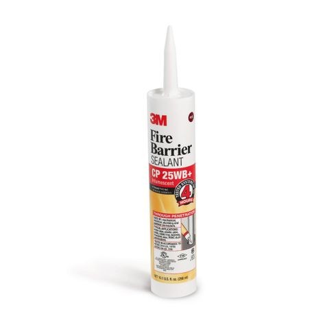 3M™ CP 25WB+ High Performance Fire Barrier Sealant, 10.1 fl-oz Cartridge, Paste, Red