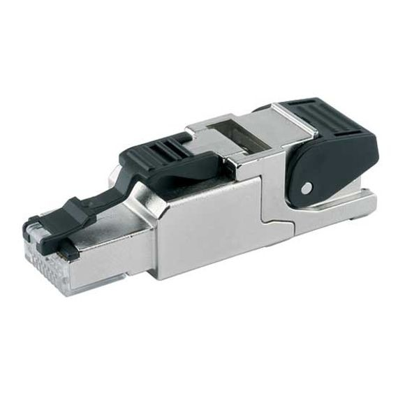 Rj45 Ethernet Connector - Cat6a 360° Shielded Field Wireable Modular Plug With Clasp
