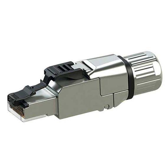 RJ45 Ethernet Connector Field Wireable Cat. 6A with Compression Nut