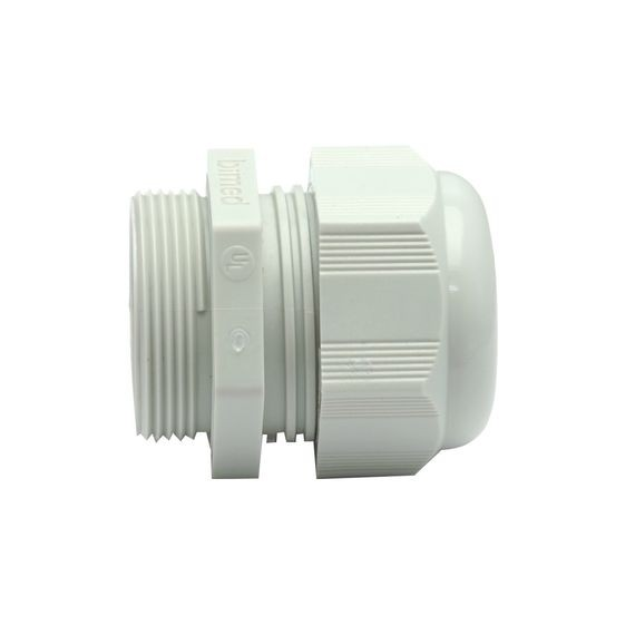Dome Cap Cable Gland, gray, Polyamide, PG16, cable range .27 - .47