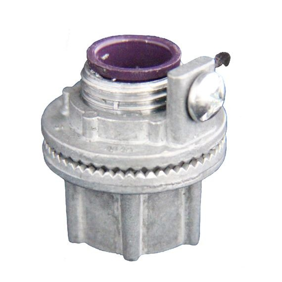 "Watertight Conduit Hub - Grounded, die cast zinc, 1/2"" NPT"
