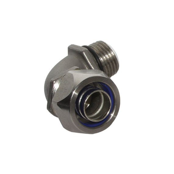 "Liqua-Seal Connector, 90 deg, insulated, 3/4"" NPT, SS"