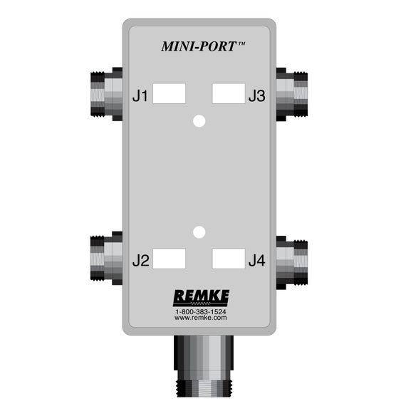Mini-Link Dist Box, 4 Outlet, connector feed