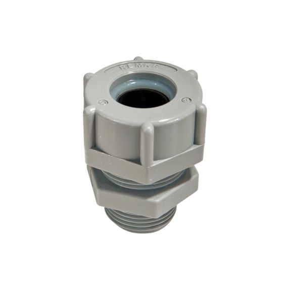 "Cord Connector, nylon, 1/2"" NPS, cable range .375 - .438"