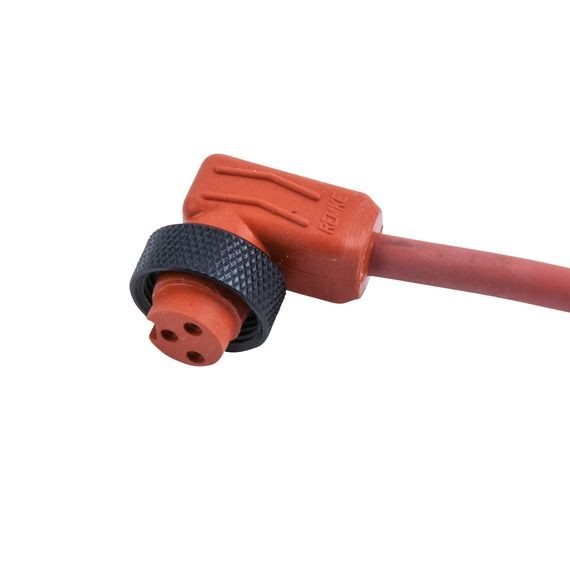 Mini-Link Plug Assembly, Hi-Temp silicone, Female 90 deg, 5 pole, 3', 16 AWG