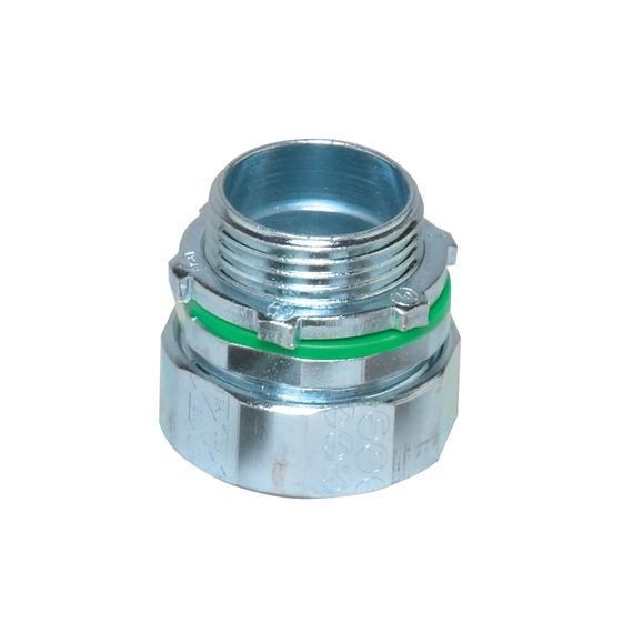 "Liqua-Seal Connector, straight, 3/8"" NPT, zinc plated steel"