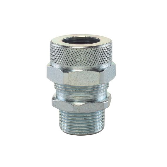 "Cord Connector, steel, 1/2"" NPT, cable range .375 - .438"