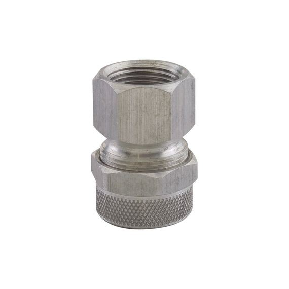 "Cord Grip with internal thread, alum, 3/8"" NPT, cable range .125 - .188"