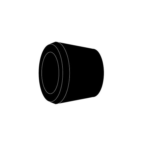 Bushing, Single Hole, neoprene, cable range 1.125 - 1.250, Form Size 5