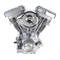 V111 Complete Assembled Engine For 1984-'99 HD Carbureted Big Twins - Full Polish