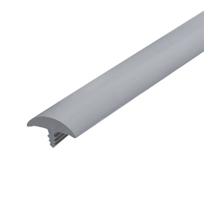13/16in Dove Grey Flexible PVC | Round Bumper Tee Moulding | 250ft Coil