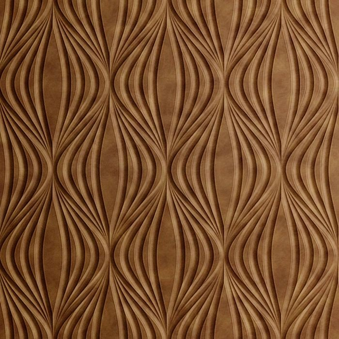 10' Wide x 4' Long Shallot Pattern Antique Bronze Finish Thermoplastic Flexlam Wall Panel