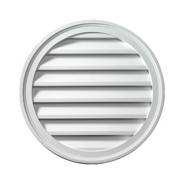 "12"" Diameter Decorative Round Louver"