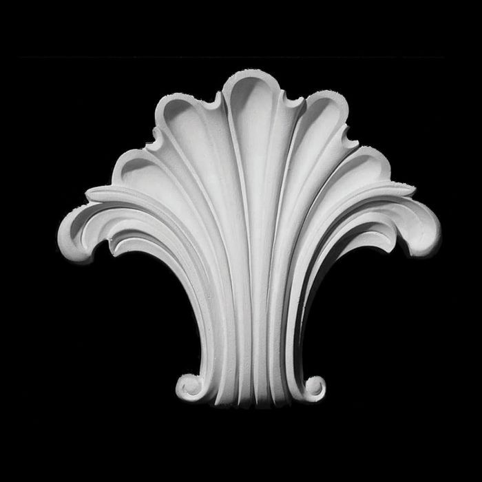 "10"" Wide x 9-1/4"" High Unfinished Polymer Resin Keystone Applique"