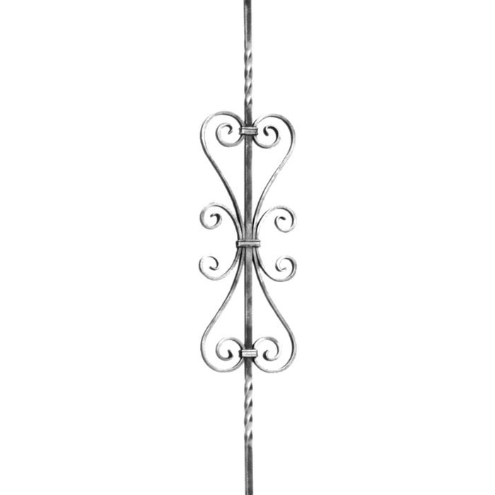 "1/2"" Square x 7-3/32"" W x 35-7/ 16"" H Wrought Iron Balusters"