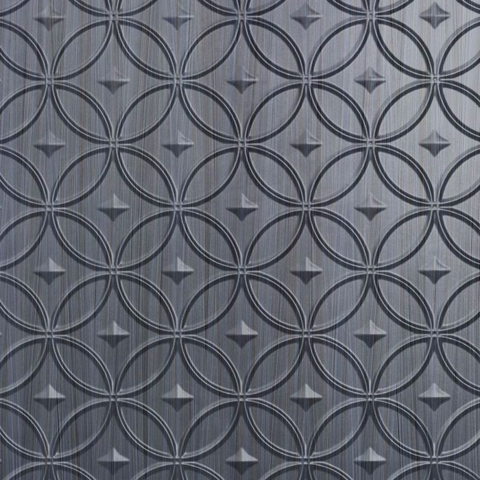 10' Wide x 4' Long Celestial Pattern Steel Strata Finish Thermoplastic Flexlam Wall Panel