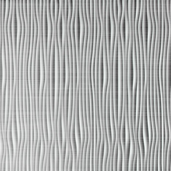 10' Wide x 4' Long Gobi Pattern Brushed Aluminum Vertical Finish Thermoplastic FlexLam Wall Panel