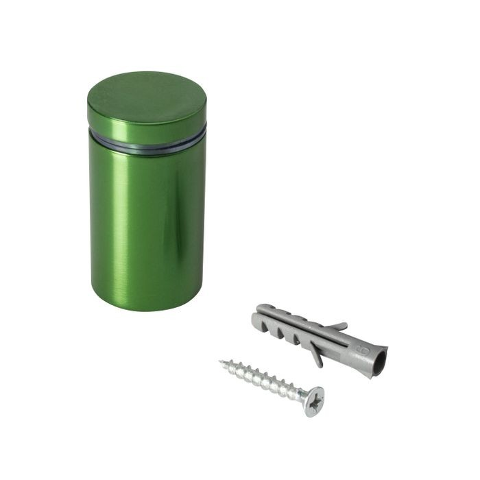 1in Dia x 1-1/2in Barrel Length | Green Aluminum | Eco Series Easy Fasten Standoff