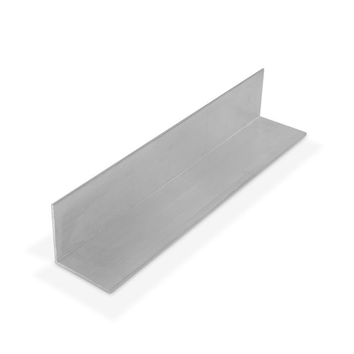 1-1/2in x 1-1/2in x 1/16in Thick | Mill Finish Aluminum Even Leg | 90° Angle Moulding | 12ft Length