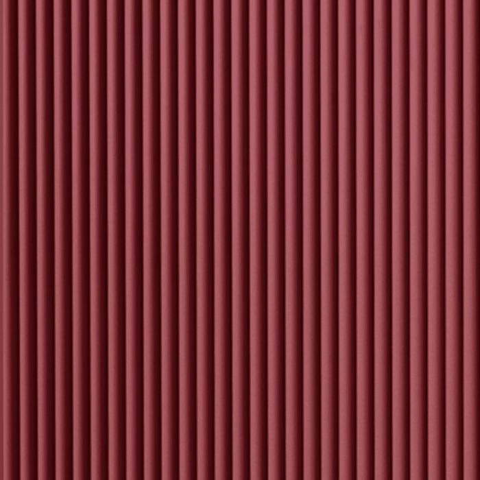 10' Wide x 4' Long Rib2 Pattern Merlot Finish Thermoplastic Flexlam Wall Panel