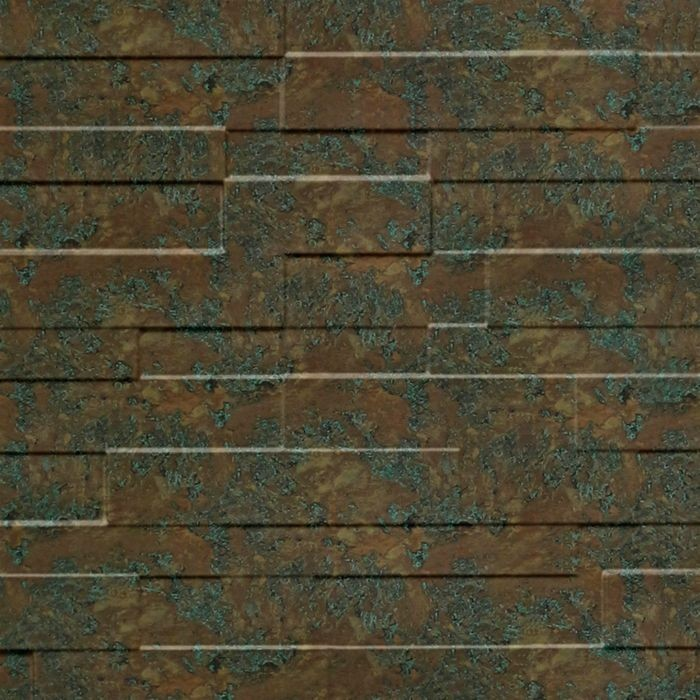 10' Wide x 4' Long Tetrus Pattern Copper Fantasy Finish Thermoplastic Flexlam Wall Panel