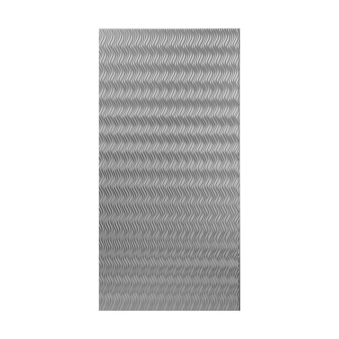 10' Wide x 4' Long Wavation Pattern African Cherry Vertical Finish Thermoplastic Flexlam Wall Panel