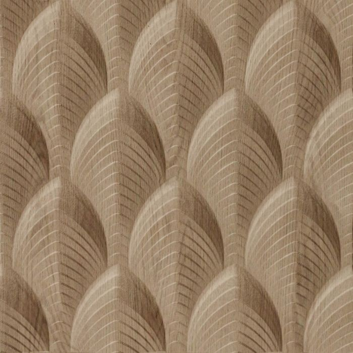 10' Wide x 4' Long South Beach Pattern Washed Oak Finish Thermoplastic Flexlam Wall Panel