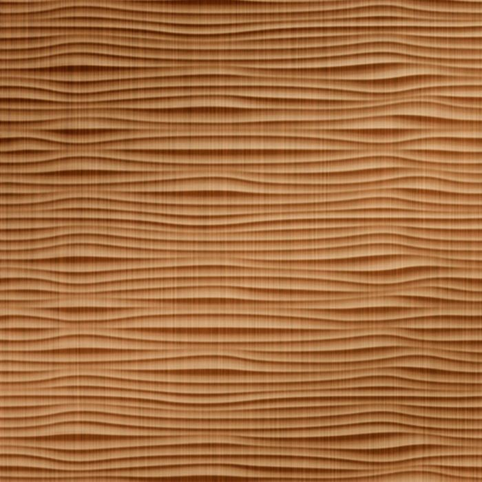 10' Wide x 4' Long Gobi Pattern Brushed Copper Finish Thermoplastic Flexlam Wall Panel