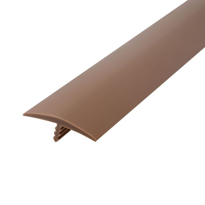1-1/4in 709 Tan Flexible Polyethylene | Center Barb Tee Moulding | 250ft Coil