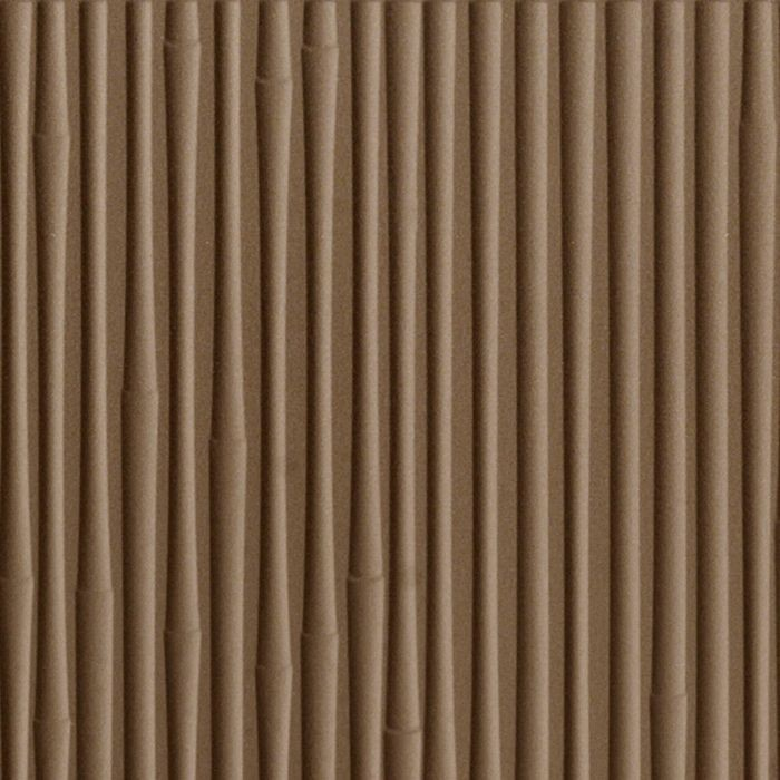 10' Wide x 4' Long Bamboo Pattern Argent Bronze Finish Thermoplastic FlexLam Wall Panel