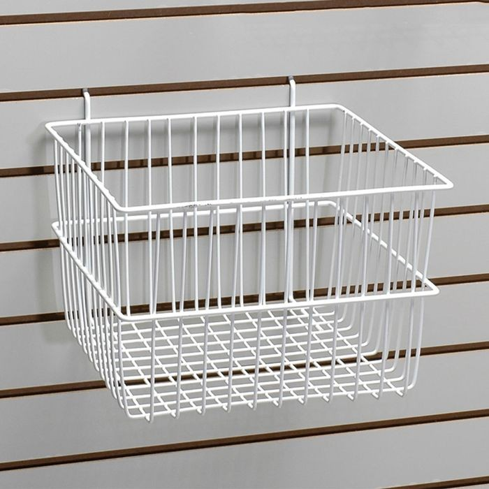"White Deep Basket 12""W X 12""D X 8""H"