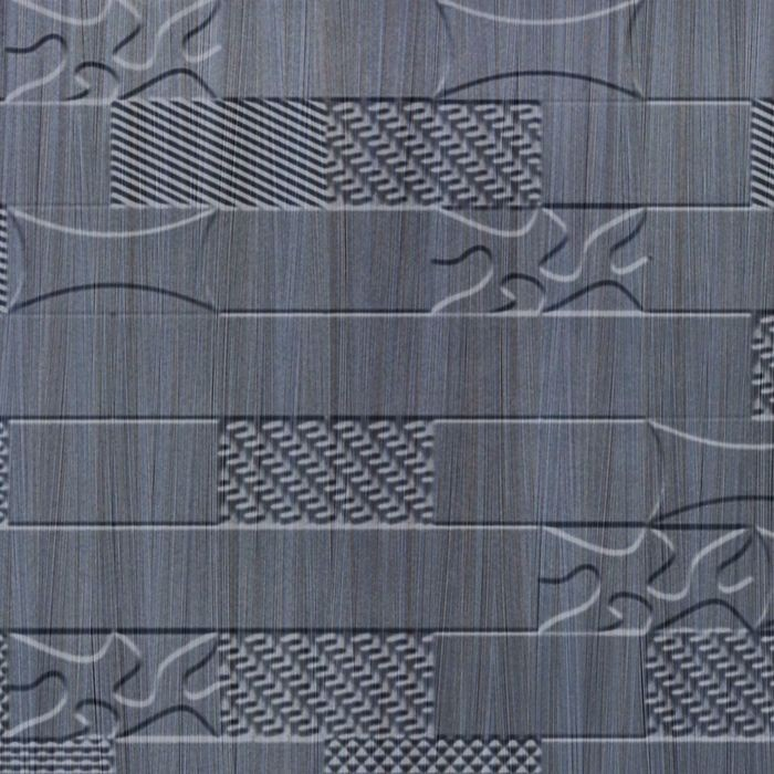 10' Wide x 4' Long Versa-Tile Pattern Steel Strata Finish Thermoplastic FlexLam Wall Panel