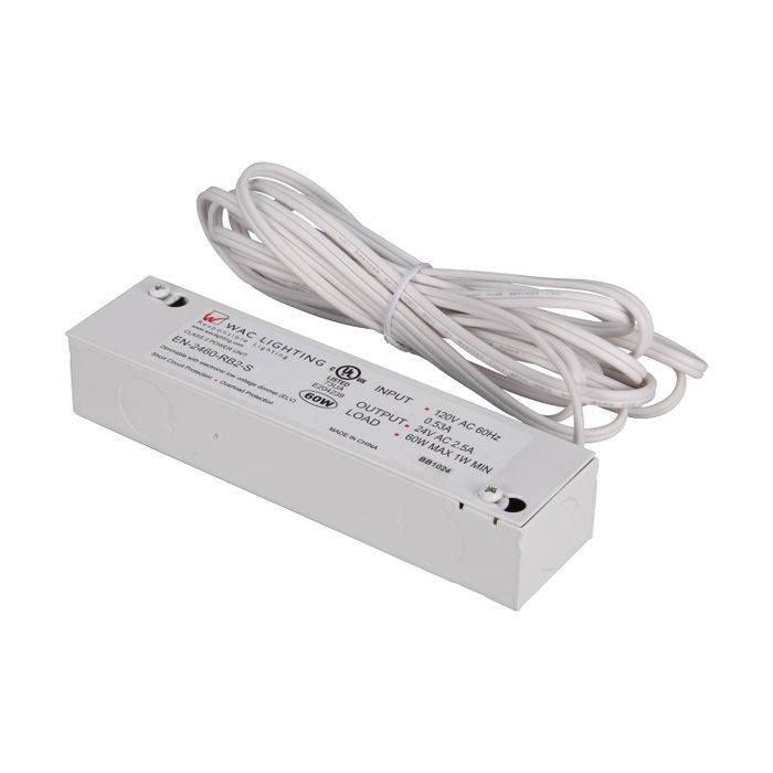 WAC Dimmable Hardwire LED Power Supply | 60 Watts 24V with Hardwire UL for WAC Lighting