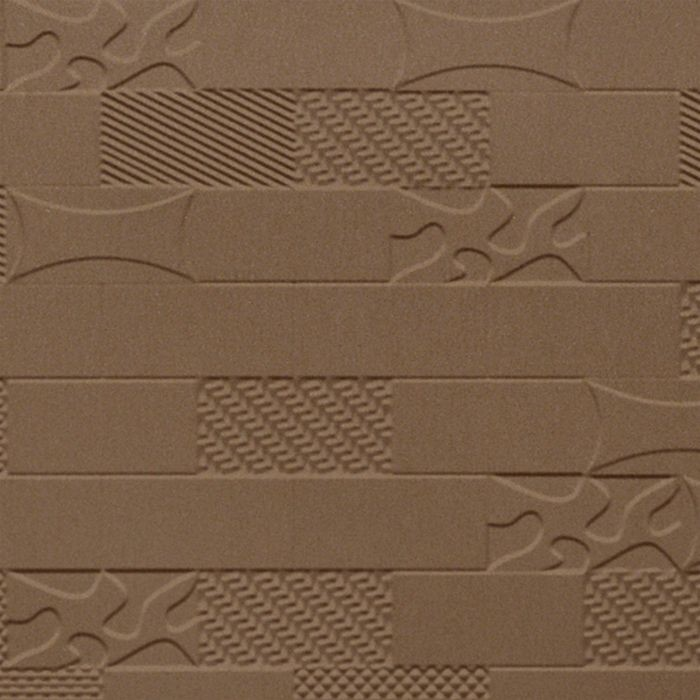 FlexLam 3D Wall Panel | 4ft W x 10ft H | Versa-Tile Pattern | Argent Bronze Finish