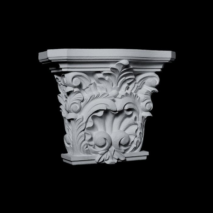 "10"" Wide x 9"" High Unfinished Polymer Resin Capital"