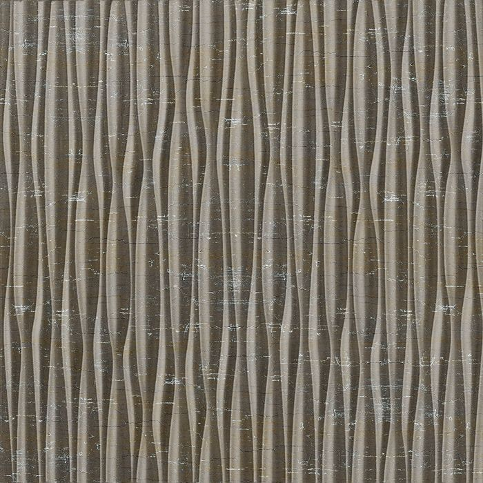10' Wide x 4' Long Sahara Pattern Vintage Metal Vertical Finish Thermoplastic Flexlam Wall Panel