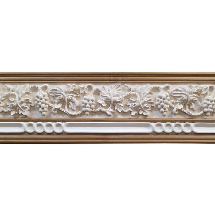 10in H x 1-1/2in Proj | Unfinished Polymer Resin | 480-E Series with Bottom Style 3 | Frieze Moulding | 10ft Long