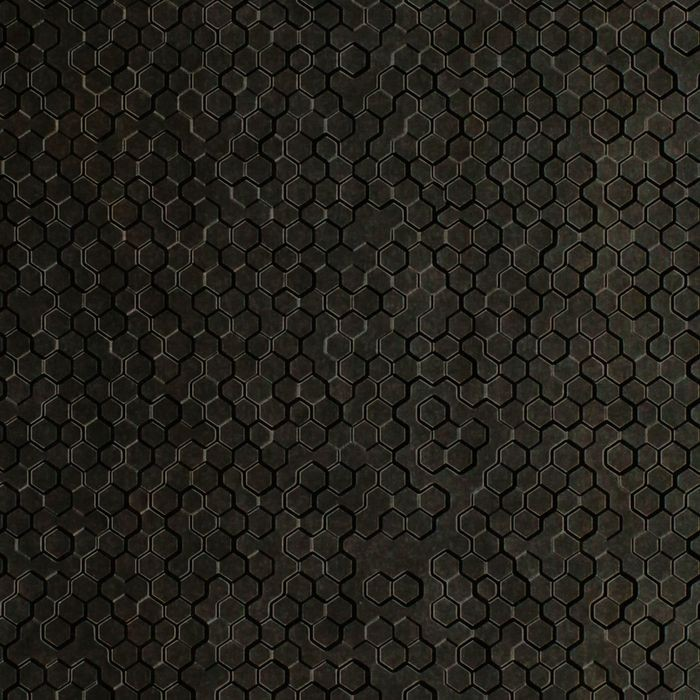 10' Wide x 4' Long Beehive Pattern Smoked Pewter Finish Thermoplastic FlexLam Wall Panel