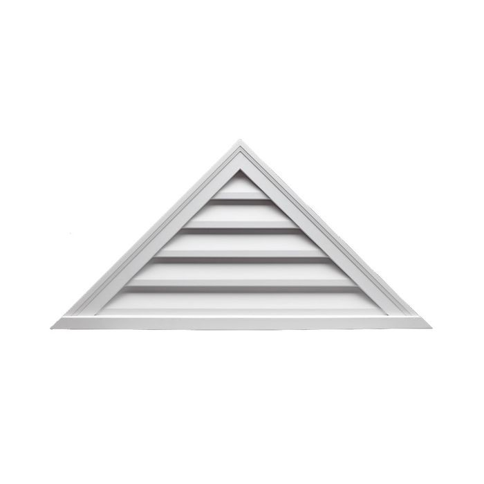 "12"" High x 48"" Wide x 6/12 Pitch Functional Triangular Louver"