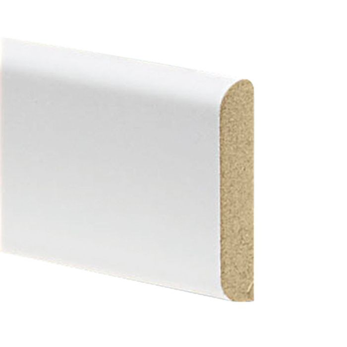 "1-1/4"" High x 1/4"" Thick White Finish Batten Moulding 8' Length"