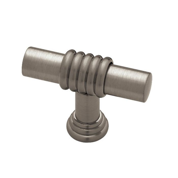 "1.37"" Dia Brass Knob  (35mm) Satin Nickel & Polished Brass"