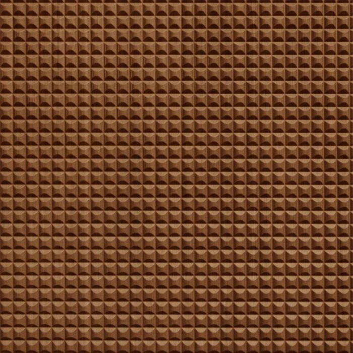 10' Wide x 4' Long Chocolate Square Pattern Pearwood Finish Thermoplastic Flexlam Wall Panel