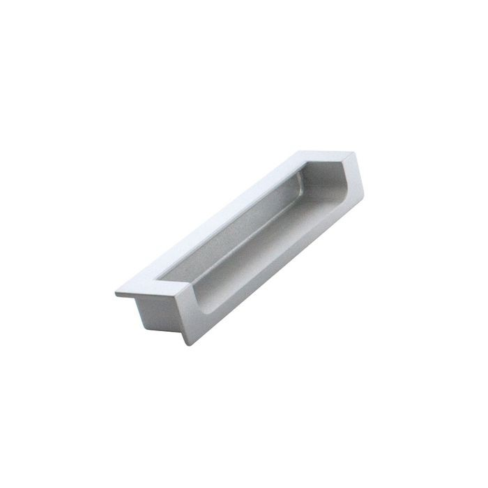 "Satin Finish Recessed Pull 4 1/4"" Overall 3 3/4"" Cc"
