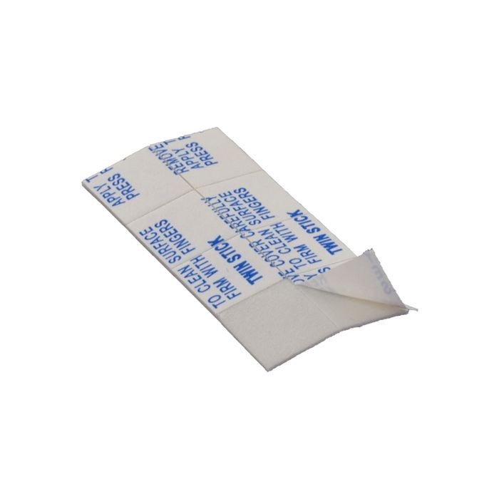 "1/2"" Square x 1/32"" Thick White Adhesive Square Dot"