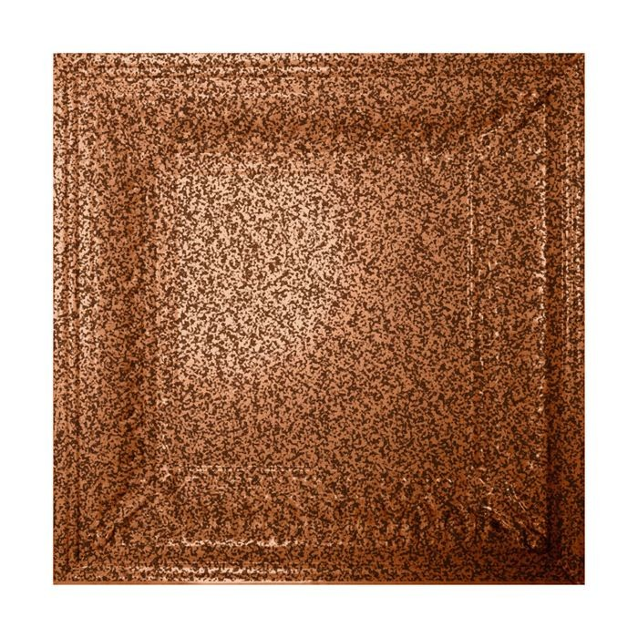 Tin Plated Stamped Steel Ceiling Tile | Nail Up/Glue Up Ceiling Tile | 2ft Sq | Copper Vein Finish