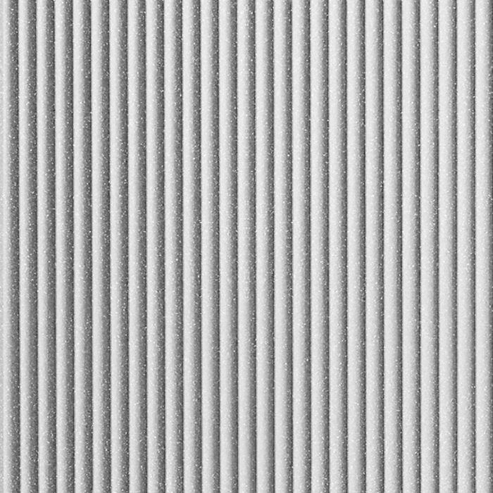 10' Wide x 4' Long Rib2 Pattern Argent Silver Finish Thermoplastic FlexLam Wall Panel